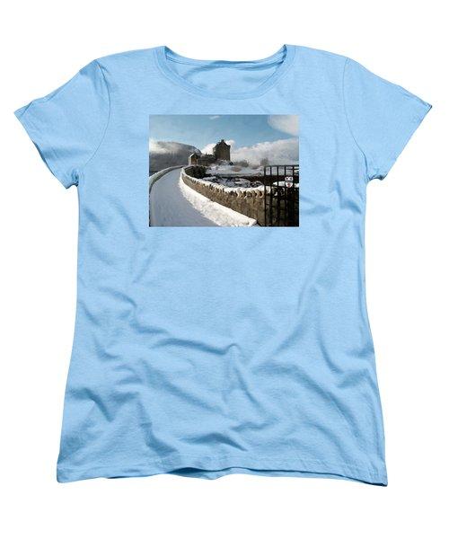 Winter Wonder Walkway Women's T-Shirt (Standard Cut) by Bruce Nutting