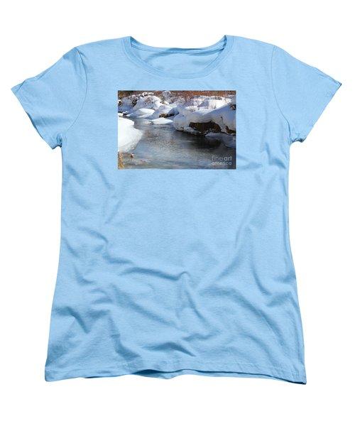 Women's T-Shirt (Standard Cut) featuring the photograph Winter's Blanket by Fiona Kennard