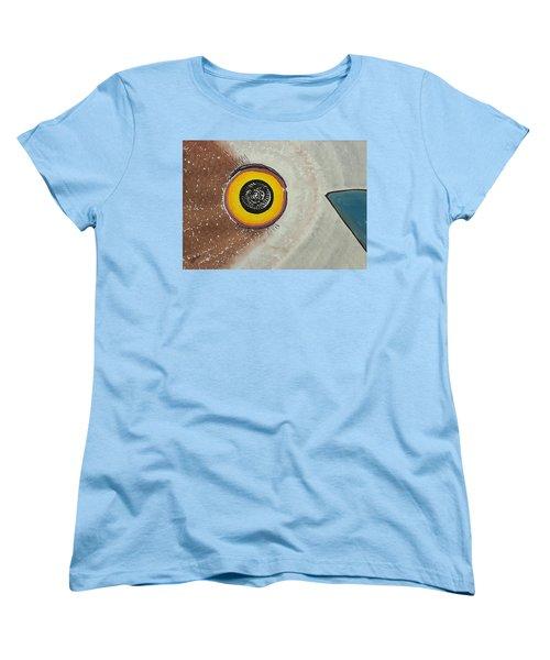 Wise Owl Original Painting Women's T-Shirt (Standard Cut) by Sol Luckman