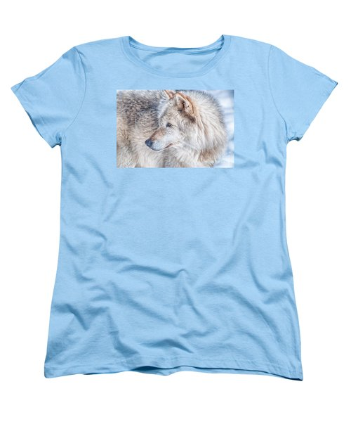 Women's T-Shirt (Standard Cut) featuring the photograph Wolf In Disguise by Bianca Nadeau