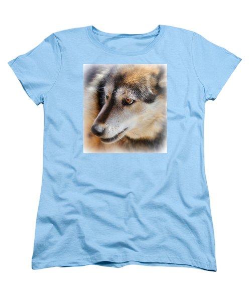 Wolf Spirit Women's T-Shirt (Standard Cut) by Diane Alexander