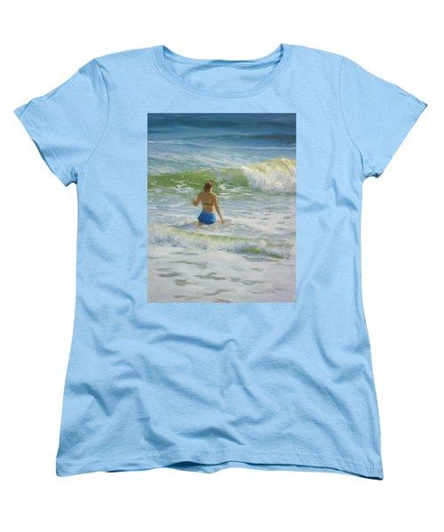 Woman In The Waves Women's T-Shirt (Standard Cut)