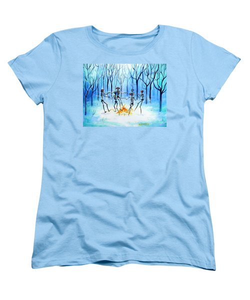 Women's T-Shirt (Standard Cut) featuring the painting Wonderland Ring by Heather Calderon