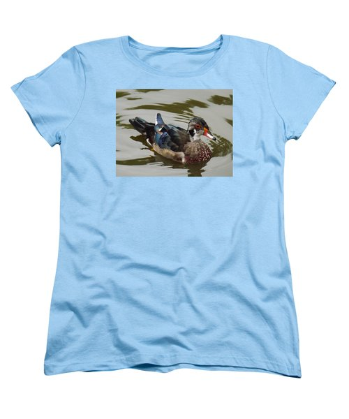 Wood Duck Women's T-Shirt (Standard Cut) by Brenda Brown
