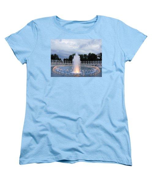 World War II Memorial Fountain Women's T-Shirt (Standard Cut) by Natalie Ortiz