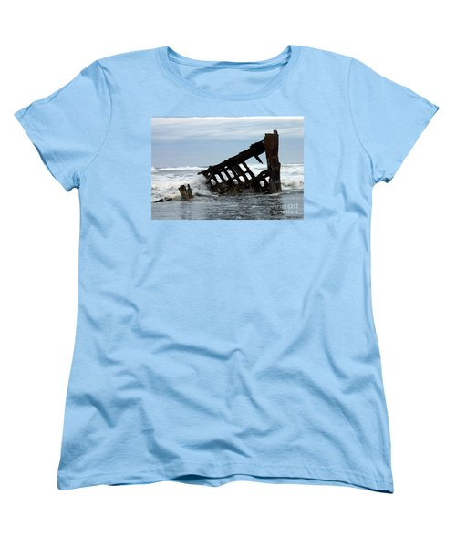Women's T-Shirt (Standard Cut) featuring the photograph Wreck Of The Peter Iredale by Chalet Roome-Rigdon