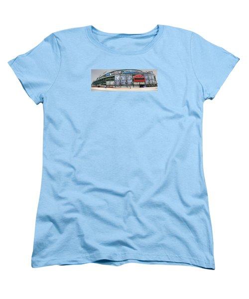 Wrigley Field On Clark Women's T-Shirt (Standard Cut) by David Bearden