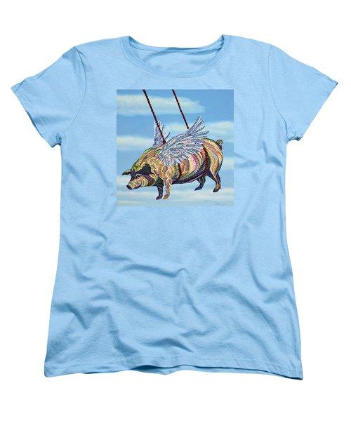 Yankee Ingenuity Women's T-Shirt (Standard Cut) by Erika Pochybova