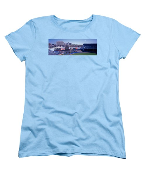 Yankee Stadium Ny Usa Women's T-Shirt (Standard Cut) by Panoramic Images