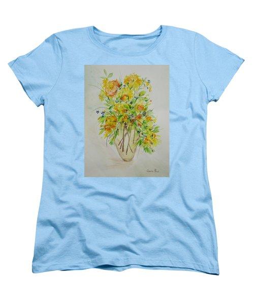 Yellow Flowers Women's T-Shirt (Standard Cut) by Judith Rhue