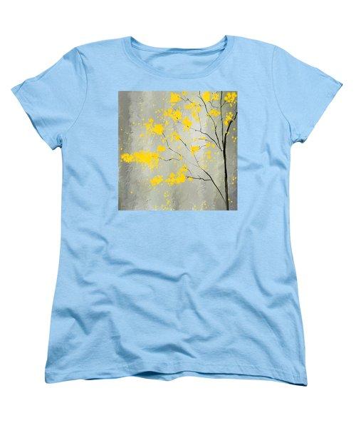 Yellow Foliage Impressionist Women's T-Shirt (Standard Cut) by Lourry Legarde