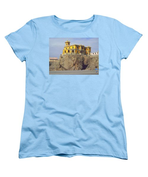 Women's T-Shirt (Standard Cut) featuring the photograph Yellow On The Rocks by Lew Davis