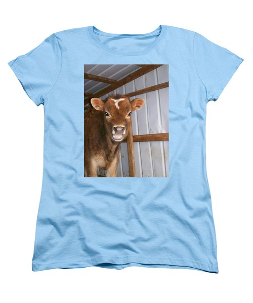 Women's T-Shirt (Standard Cut) featuring the photograph Yes I'm Talking To You by Sara  Raber