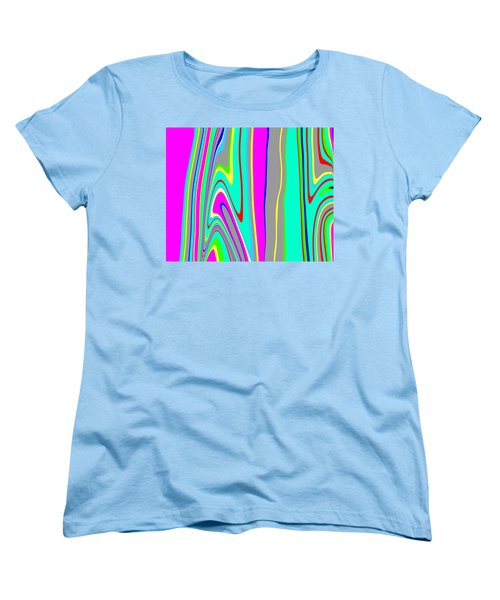 Women's T-Shirt (Standard Cut) featuring the painting Yipes Stripes II  C2014 by Paul Ashby
