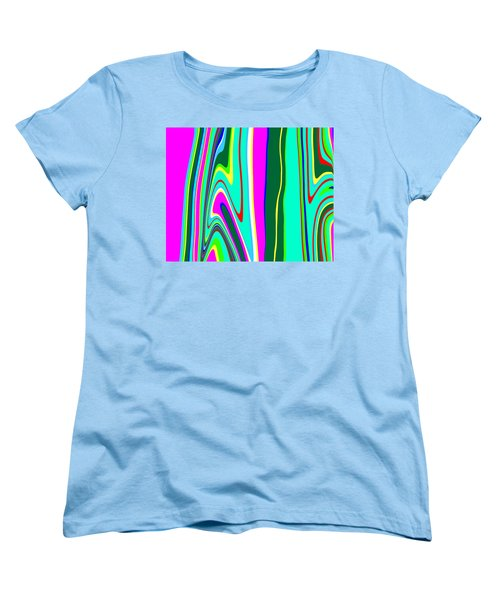 Women's T-Shirt (Standard Cut) featuring the painting Yipes Stripes II Variation  C2014 by Paul Ashby