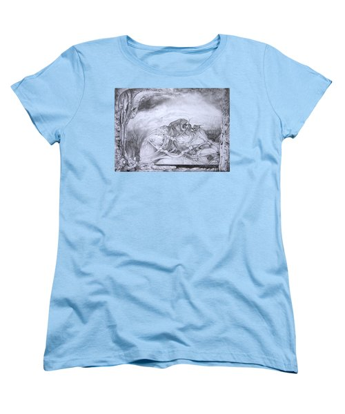 Women's T-Shirt (Standard Cut) featuring the drawing Ymir At Rest by Otto Rapp