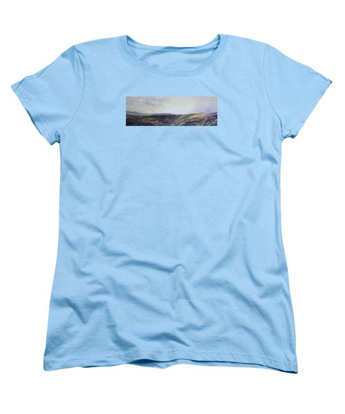 Women's T-Shirt (Standard Cut) featuring the painting Yorkshire Moors by Jean Walker