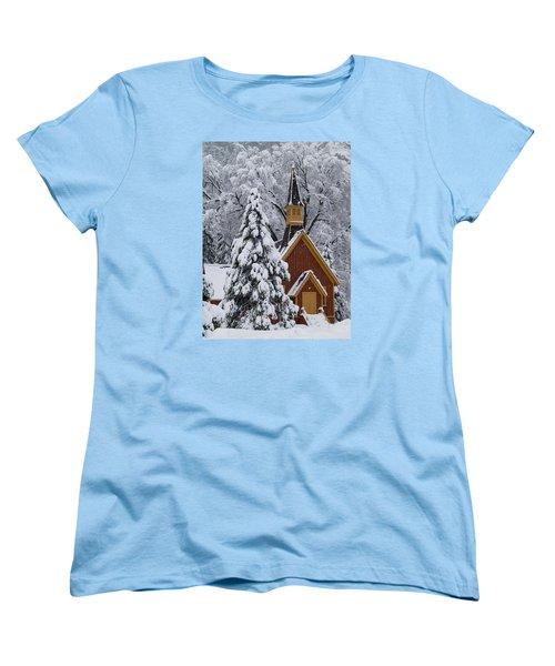 Yosemite Chapel Women's T-Shirt (Standard Cut) by Bill Gallagher