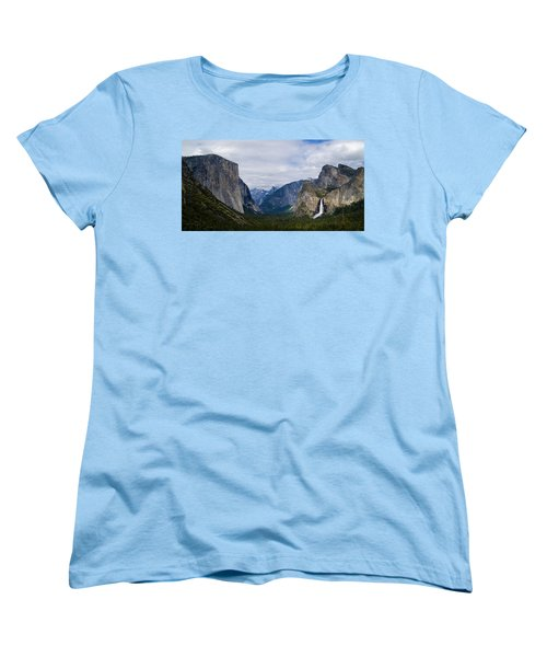 Yosemite Valley Panoramic Women's T-Shirt (Standard Cut) by Bill Gallagher