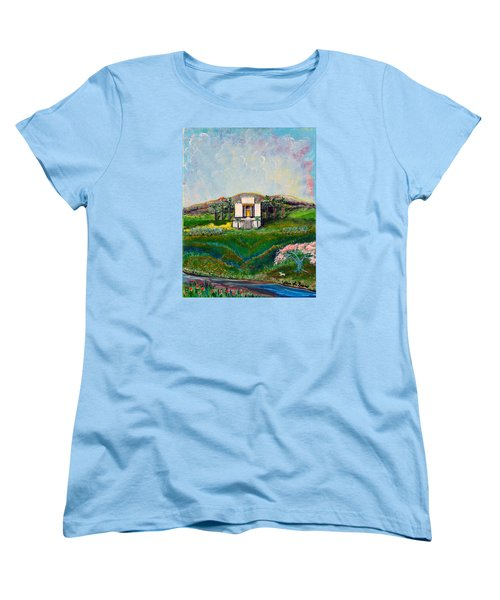 Women's T-Shirt (Standard Cut) featuring the painting You Are The Temple Of God by Cassie Sears