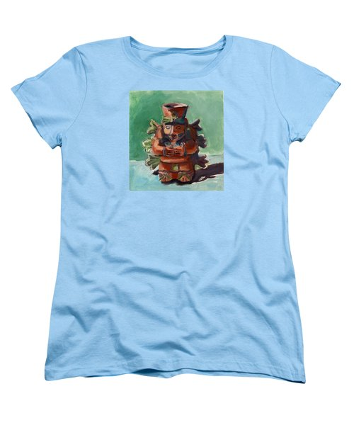 Women's T-Shirt (Standard Cut) featuring the painting Yucatan Prince by Pattie Wall