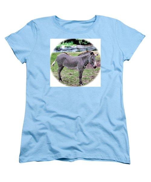 Women's T-Shirt (Standard Cut) featuring the photograph Zebra 1 by Dawn Eshelman