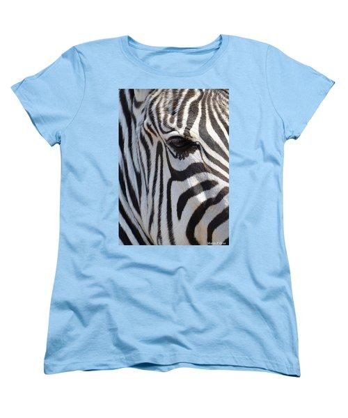 Zebra Eye Abstract Women's T-Shirt (Standard Cut) by Maria Urso