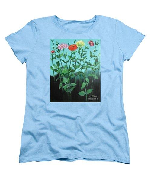 Zinnia Parade Women's T-Shirt (Standard Cut)
