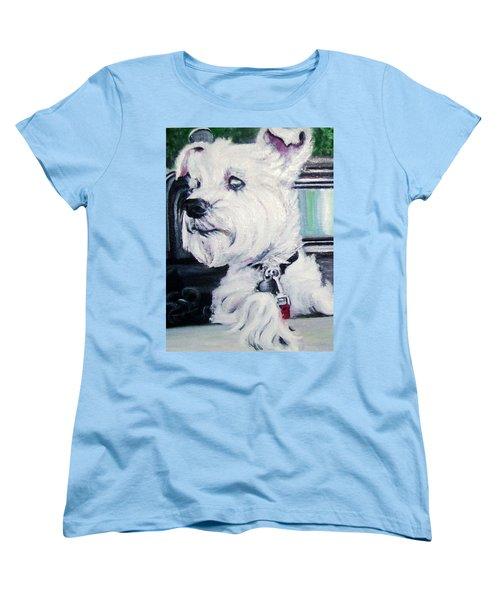 Zoey Waits For A Ride Women's T-Shirt (Standard Cut) by Martha Suhocke