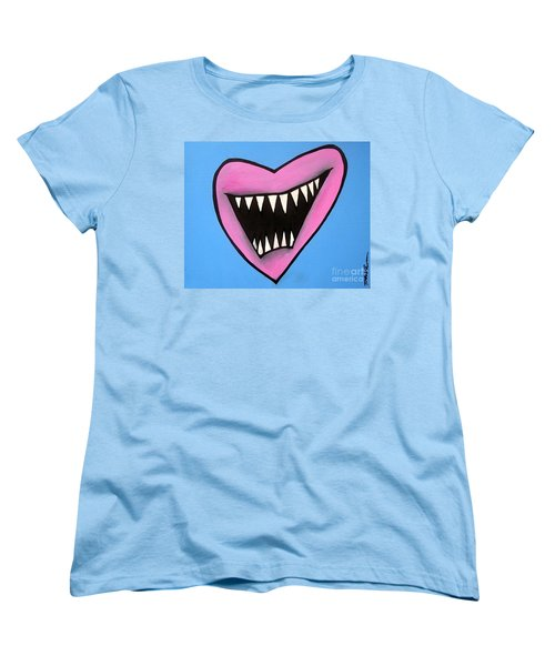 Zombie Heart Women's T-Shirt (Standard Cut) by Thomas Valentine