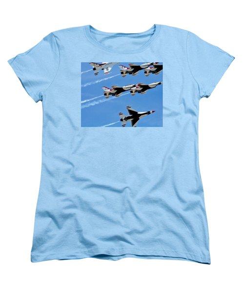 Zoom Women's T-Shirt (Standard Cut) by Judy Wanamaker