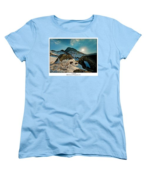 Spring Snows At Tryfan Women's T-Shirt (Standard Cut) by Beverly Cash
