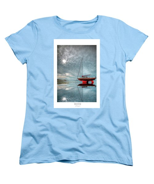 Women's T-Shirt (Standard Cut) featuring the photograph  Waiting For The Tide by Beverly Cash