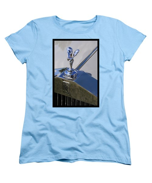 Women's T-Shirt (Standard Cut) featuring the photograph 1965 Rolls Royce Silver Cloud IIi Mpw Coupe by Gordon Dean II