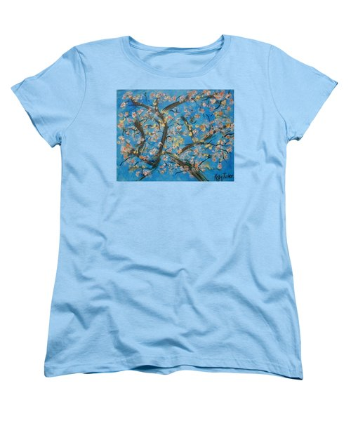 Almond Blossom  Women's T-Shirt (Standard Cut) by Kelly Turner