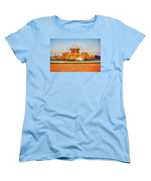 Buckingham Fountain Women's T-Shirt (Standard Cut) by Dan Stone