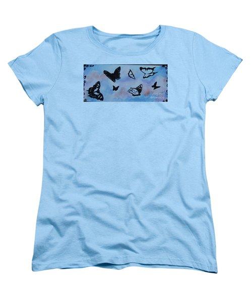 Chasing Butterflies Women's T-Shirt (Standard Cut) by Jan Bennicoff