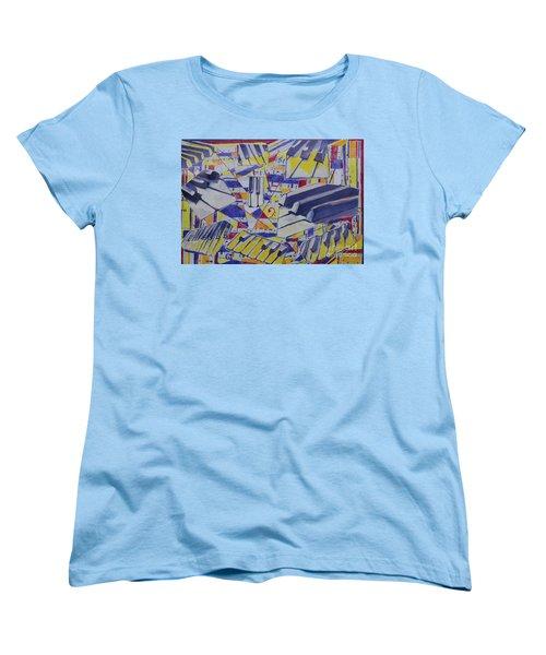 Jumping Jazz Women's T-Shirt (Standard Cut) by Jan Bennicoff