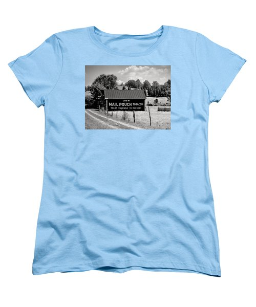 Women's T-Shirt (Standard Cut) featuring the photograph Mail Pouch Barn by Mary Almond