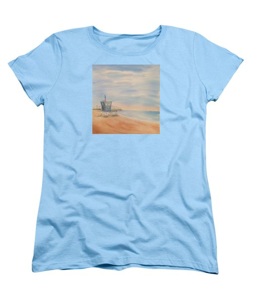 Morning By The Beach Women's T-Shirt (Standard Cut) by Debbie Lewis