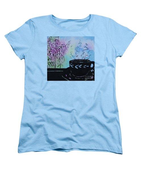Tea And Snap Dragons Women's T-Shirt (Standard Cut) by Jan Bennicoff