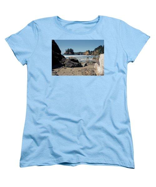 Women's T-Shirt (Standard Cut) featuring the photograph Trinidad Beach by Sharon Elliott