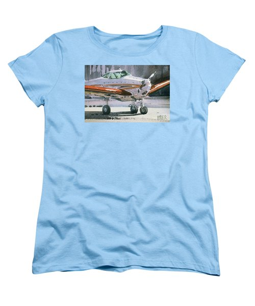 Women's T-Shirt (Standard Cut) featuring the painting Private Plane by Donald Maier