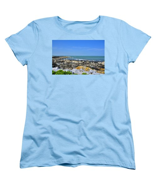 A Blue Skerries Sky Women's T-Shirt (Standard Cut) by Martina Fagan