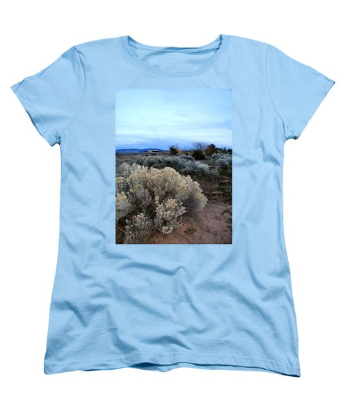 A Desert View After Sunset Women's T-Shirt (Standard Cut) by Kathleen Grace