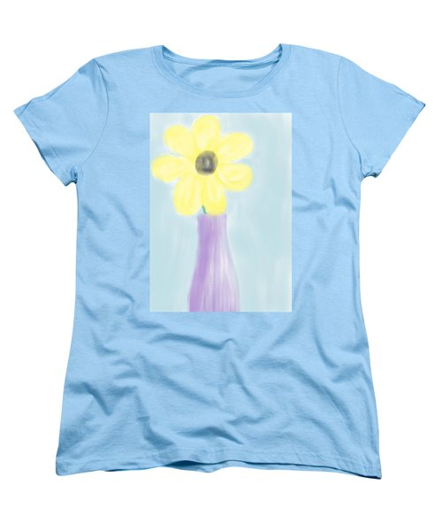 Women's T-Shirt (Standard Cut) featuring the digital art A Flower For Mo by Heidi Smith