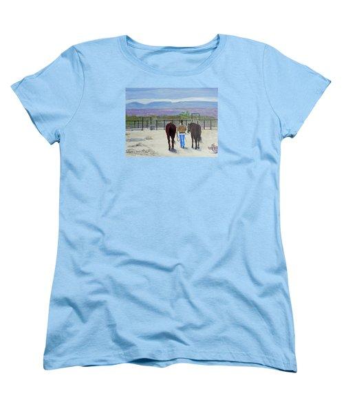 Texas - A Good Ride Women's T-Shirt (Standard Cut) by Christine Lathrop