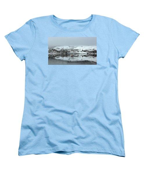 Women's T-Shirt (Standard Cut) featuring the photograph A Winter's Scene by Lynn Bolt