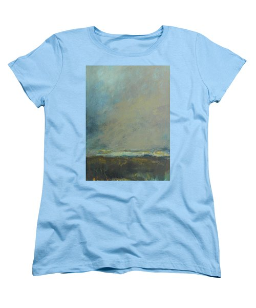 Abstract Landscape - Horizon Women's T-Shirt (Standard Cut) by Kathleen Grace