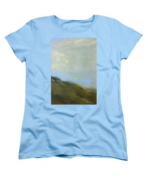 Abstract Landscape - Green Hillside Women's T-Shirt (Standard Cut) by Kathleen Grace
